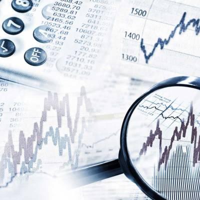 Finanzservice Mockup mit Taschenrechner